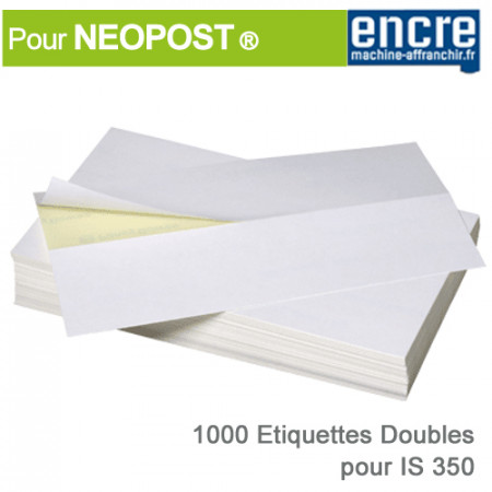etiquettes doubles neopost is 350 neopost. Black Bedroom Furniture Sets. Home Design Ideas