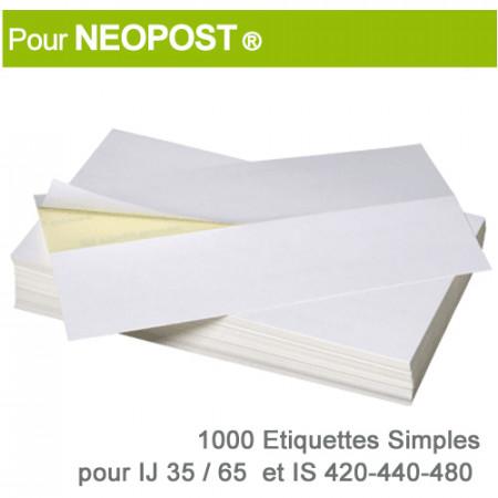 Etiquettes Simples pour Neopost ® IJ 35-65 / IS 420-440-480