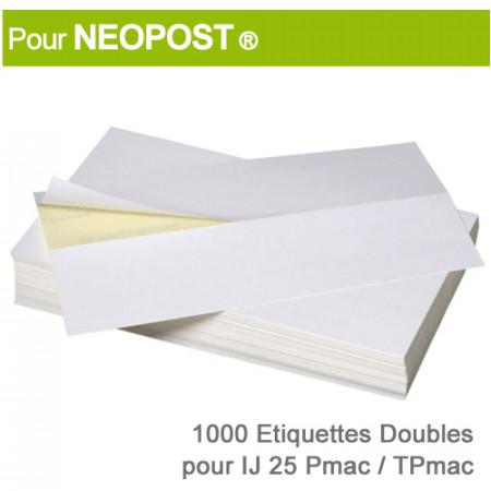Etiquettes Doubles pour Neopost ® IJ 25 Pmac-Tpmac