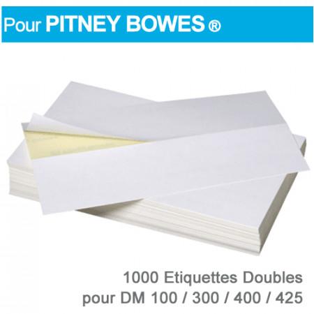 Etiquettes Doubles pour Pitney Bowes ® DM 100-300-400-425