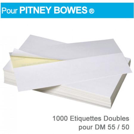Etiquettes Doubles pour Pitney Bowes ® DM55