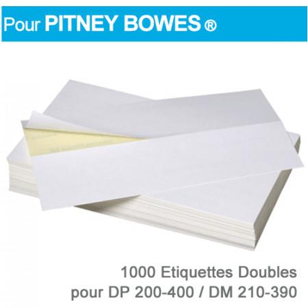 Etiquettes Doubles pour Pitney Bowes ® DP 200-400 / DM 210-390