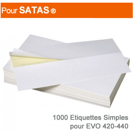 Etiquettes Simples pour Satas ® Evo 420-440