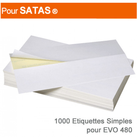 Etiquettes Simples pour Satas ® Evo 480