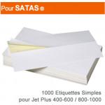 Etiquettes Simples pour Satas ® Jet 400-600 / Jet 800-1000