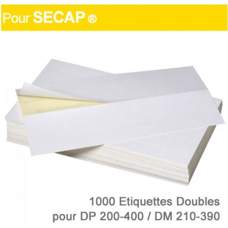Etiquettes Doubles pour Secap ® DP 200-400 / DM 210-390